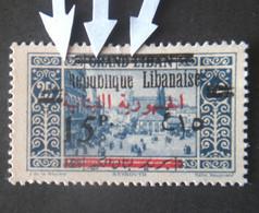 LEBANON GRAND LIBAN 1928 TIMBRE DE 1927 AVEC SURCHARGE BILINGUE  VARIETE ERROR SURCHARGE INCOMPLETE MHL - Liban