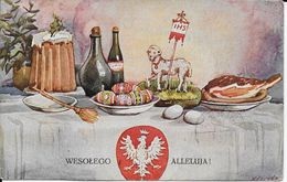 Cpa WESOLEGO ALLELUJA!- M.Zawada Pinx- écrite Voyagée -voir Dos Beaux Timbres - Pologne