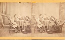Stereoscoopfoto, Nanny Leest Voor Aan Vier Kinderen, Ca. 1920 - Stereoscoop