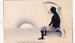 CPA Anti-Allemagne Anti-Germanie Anti-Kaïser Mort Camarde Silhouette Ombre Chinoise - Silhouette - Scissor-type