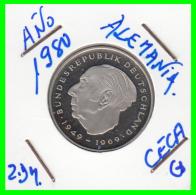 ALEMANIA - GERMANY -MONEDA DE 2.00 DM. THEODOR HEUSS - AÑO 1980- G CALIDAD PROOF S/C - [ 7] 1949-… : RFA - Rep. Fed. Alemana