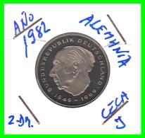 ALEMANIA - GERMANY -MONEDA DE 2.00 DM. THEODOR HEUSS -   AÑO 1982-J  CALIDAD PROOF S/C - [ 7] 1949-… : RFA - Rep. Fed. Alemana