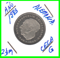 ALEMANIA - GERMANY -MONEDA DE 2.00 DM. THEODOR HEUSS - AÑO 1983-G  CALIDAD PROOF S/C - [ 7] 1949-… : RFA - Rep. Fed. Alemana