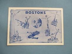CARTON PUBLICITE CIRQUE BOSTONS MOTOS - Publicité