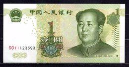 BILLET DE CHINE 1 YUAN EFFIGIE MAO ZEDONG TTB ** - China