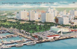 Florida Miami Aerial View Of Bayfront Park From Municipal Audito