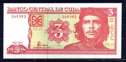"BILLET DE CUBA 3 PESOS EFFIGIE Ernesto "" CHE "" GUEVARA TTB ** - Cuba"