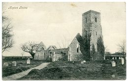 GREAT YARMOUTH : HOPTON CHURCH RUINS / ADDRESS - JASMINE FARM, MENDHAM, HARLESTON - Great Yarmouth