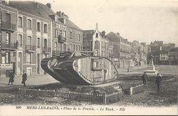 CPA Mers Les Bains Place De La Prairie Le Tank - Mers Les Bains