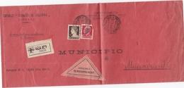 """STORIA POSTALE - BUSTA VIAGGIATA  R. - EDITRICE""""CRONACA DI CALABRIA - CON FRANCOBOLLI CENT. 10 E 75 - 1900-44 Vittorio Emanuele III"""