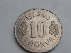 Islande 10  Kronur  1971  Km#15 Cupronickel UNC SUPERBE - Islandia