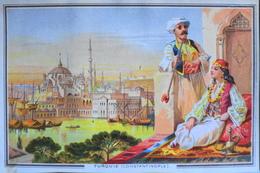 Belle Chromo. - Les Grandes Villes - TURQUIE - CONSTANTINOPLE - TBE - Old Paper