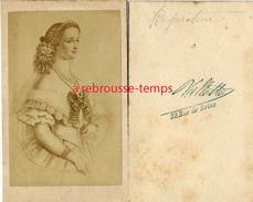 CDV Impératrice Eugénie-photo Vallette Rue De Seine à Paris - Photographs