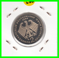 ALEMANIA - GERMANY -MONEDA DE 2.00 DM. THEODOR HEUSS -   AÑO 1984-D S/C - [ 7] 1949-… : RFA - Rep. Fed. Alemana