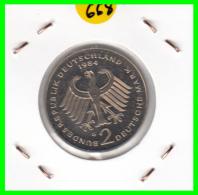 ALEMANIA - GERMANY -MONEDA DE 2.00 DM. THEODOR HEUSS - AÑO 1984-G   S/C - [ 7] 1949-… : RFA - Rep. Fed. Alemana