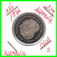 ALEMANIA - GERMANY -MONEDA DE 2.00 DM. THEODOR HEUSS - AÑO 1984-J   S/C - [ 7] 1949-… : RFA - Rep. Fed. Alemana