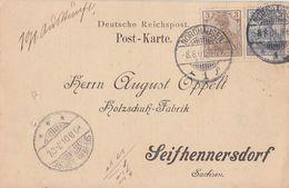 DR Karte Mif Minr.53, 54b Geprüft Nordhausen 8.8.01 - Briefe U. Dokumente