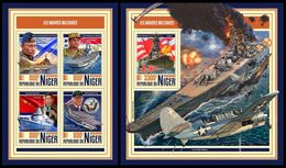 NIGER 2017 - Military Ships, M/S + S/S. Official Issue - Militaria