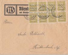 DR Brief Drucksache Mef Minr.8x 324 Nürnberg - Deutschland