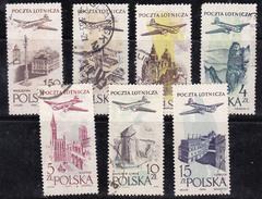 Pologne 1957-1958 N° Y&T : PA. 42 à 48 Obl. - Posta Aerea