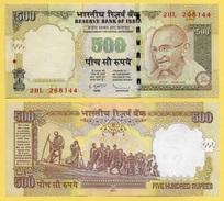 India 500 Rupees P-99f 2011 Letter E. Sign. Subbarao UNC - India