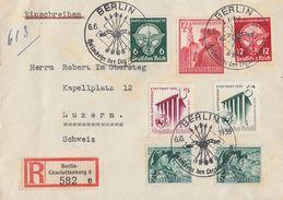 DR R-Brief Mif Minr.2x 684,689,690,691,692,693 SST Berlin 6.6.39 Heimkehr Der Legion Condor Gel. In Schweiz - Briefe U. Dokumente