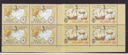 1991 San Marino Saint Marin CRISTOFORO COLOMBO 4 Serie Di 2v. MNH** In Quartina Bl.4 - Christopher Columbus