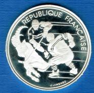 PIECE 100FR JO ALBERTVILLE 92 1991 HOCKEY SUR GLACE - France
