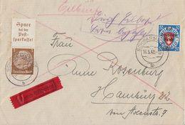 DR Brief Eilbote Mif Minr.727, Zdr.S175 Schwarmstedt 16.5.40 Gel. Nach Hamburg Ansehen !!!!!! - Briefe U. Dokumente
