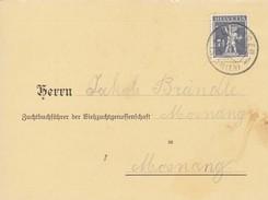 1916 Geburtsanzeige Viehzuchtgenossenschaft Stpl: DREIEN ST. Gallen. Mi:138xII Tellknabe - Lettres & Documents