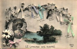 Le Langage Des Rubans, Femme Portrait Paysage (rex 4126) - Femmes