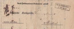 Preussen Brief R2 Waldbroel 4.8. Gel. Nach Meschede - Preussen