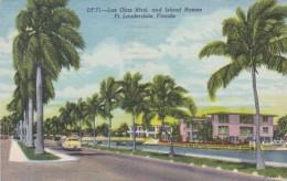 Florida Fort Lauderdale Las Olas Boulevard and Island Homes 1959