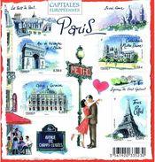 Frankreich Block 142 - Paris - Kathedrale Notre Dame - Eiffel Turm, Oper, Arc De Triomphe, Sacre Couer - Blocks & Kleinbögen