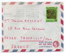 Maroc--lettre CASABLANCA Pour TROUVILLE-14 -tp Seul Sur Lettre - Maroc (1956-...)