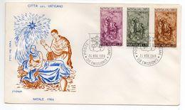 Vatican--1966--FDC  NATALE 1966   Signé--timbres 3 Valeurs-beaux Cachets - FDC