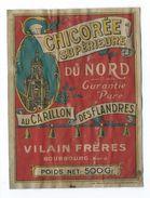 """ETIQUETTE De La CHICOREE Supérieure Du NORD """" Au Carillon Des Flandres"""" VILAIN Frères, BOURBOURG (59) - Fruits Et Légumes"""