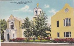 Florida Lake Worth Calvary Methodist Church Curteich