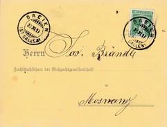1913 Geburtsanzeige Viehzuchtgenossenschaft Gelaufen Von Dreien Nach Monsang Mi:113 III   TellKnabe - Lettres & Documents