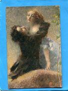 T CREMONA-volupté Amour De Deux Femmes  - -a Voyagé En 1917-édition Artitisca - Illustrateurs & Photographes
