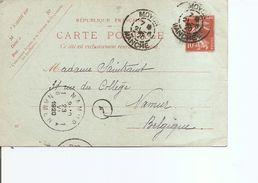 France ( EP De 1920 De Moyon Dans La Manche Vers La Belgique à Voir) - Storia Postale