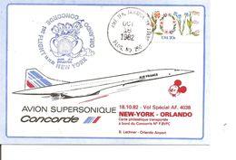 Concorde - Vol New-York - Orlando ( Commémoratif Des USA De 1982 à Voir) - Concorde