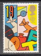 Great Britain 1989 MNH Scott #1256 19p Airplane, Train - Toys - EUROPA - Enfance & Jeunesse