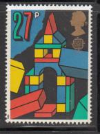 Great Britain 1989 MNH Scott #1257 27p Tower Of Building Blocks - Toys - EUROPA - Enfance & Jeunesse