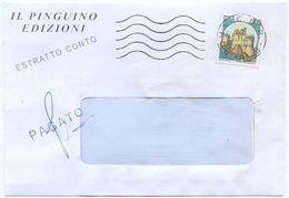 1984 CASTELLI L. 50 ISOLATO SU BUSTA APERTA  2.11.84 TARIFFA ESTRATTO CONTO EDITORIALE  - OTTIMA QUALITÀ (8203) - 6. 1946-.. Repubblica