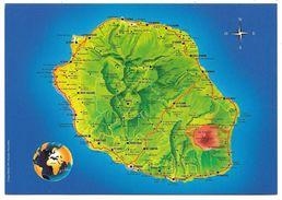 ILE DE LA REUNION - Carte Routière De La Réunion - Ed. Gélabert - La Réunion
