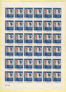 XVIe Jeux Olympiques D'Hiver - Albertville 1992 - AGF Assurance - Feuille De 36 Vignettes - Erinnophilie