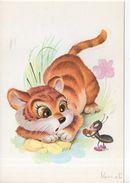 Chat Et Fourmi (illustrateur : Vernet ) - Fancy Cards