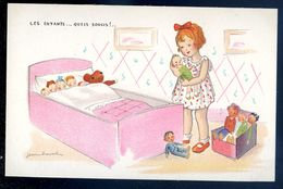 Cpa Illustrateur Jean Cheval .. Les Enfants Quels Soucis   Sep17- 70 - Cheval