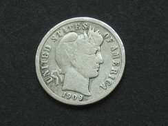 Etats-Unis -USA - One 1 Dime 1909 D - Barber Dime -  United States Of America  **** EN ACHAT IMMEDIAT ****  RARE !!!!! - Federal Issues